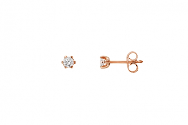 Ohrstecker Rosegold 585/- 0,20ct