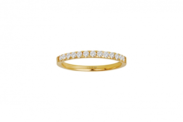 Damenring Gelbgold 585/- 0,25ct