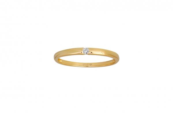 Spannring Gelbgold 585/- 0,03ct