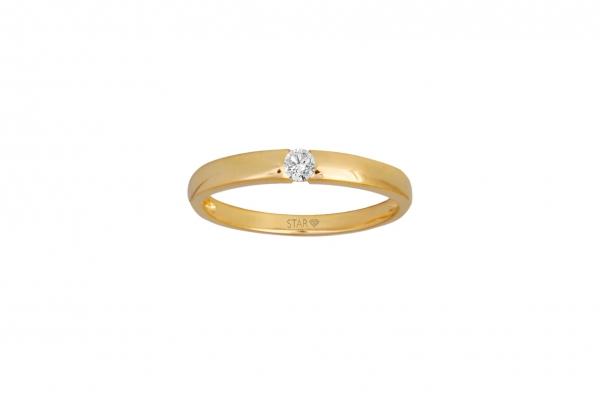 Spannring Gelbgold 585/- 0,10ct