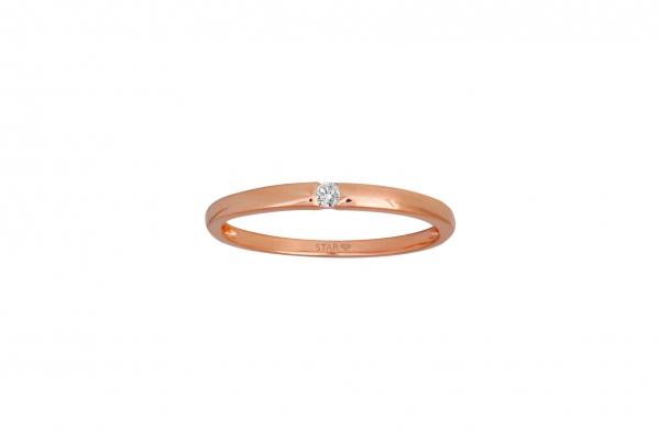 Spannring Rosegold 585/- 0,03ct