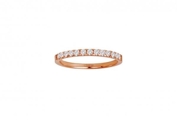 Damenring Rosegold 585/- 0,25ct