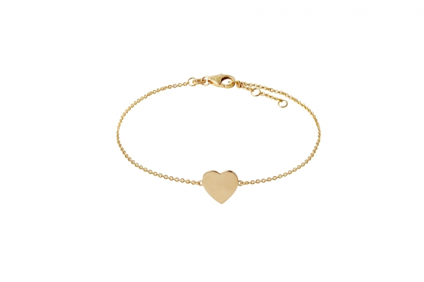 Armband mit Herz Gelbgold 585/-