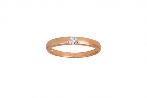 Spannring Rosegold 585/- 0,10ct