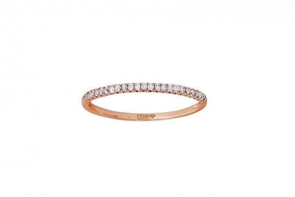 Damenring Rosegold 585/- 0,075ct