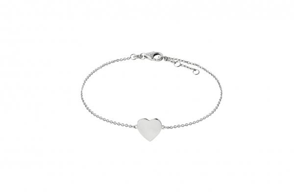 Armband mit Herz Weißgold 585/-