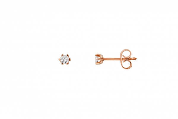 Ohrstecker Rosegold 585/- 0,10ct